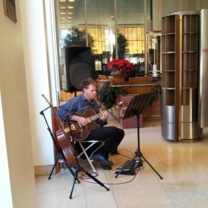 Christmas Solo Guitar at a Downtown Office.